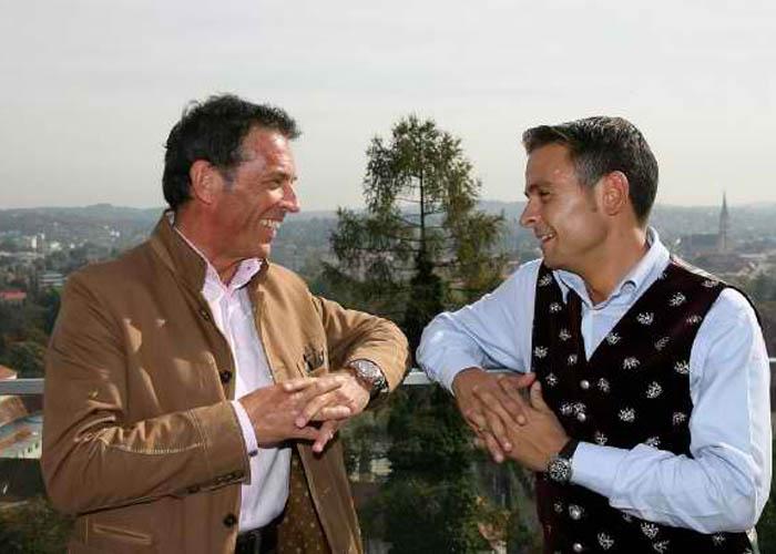 Zwei Freunde Jorg Haider Und Gerald Grosz