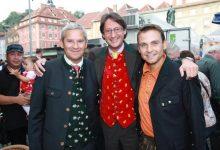 Ex-GAK Präsident Harald Fischl, Klubobmann Josef Bucher und Gerald Grosz