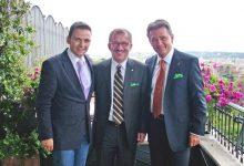 Gerald Grosz mit Italiens Innenminister Roberto Maroni und Klubobmann Peter Westenthaler in Rom