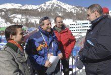 Gerald Grosz mit Sozialstaatssekretär Sigisbert Dolinschek und demPräsidenten des IOC Jacques Rogge