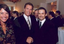 The Governor of California Arnold Schwarzenegger mit Gerald Grosz in Wien