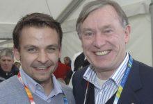 2006 in Turin: Gerald Grosz mit Deutschlands Bundespräsident Horst Köhler