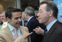 Gerald Grosz mit Deutschlands Vizekanzler Franz Müntefering
