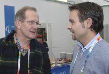 Der Schweizer Bundespräsidenten Joseph Deiss mit Gerald Grosz in Turin