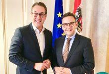 Gerald Grosz mit Österreichs Vizekanzler HC Strache
